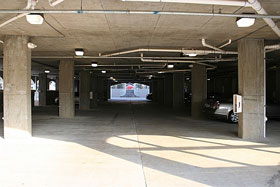 Ground level parking under the MBVII building.  There is an elevator to all floors from the parking deck.