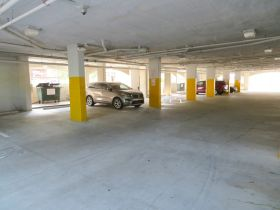One of the two parking garages