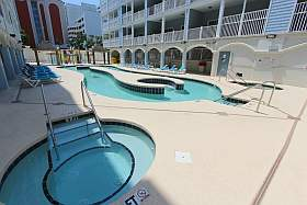 One of the hot tubs with lazy river